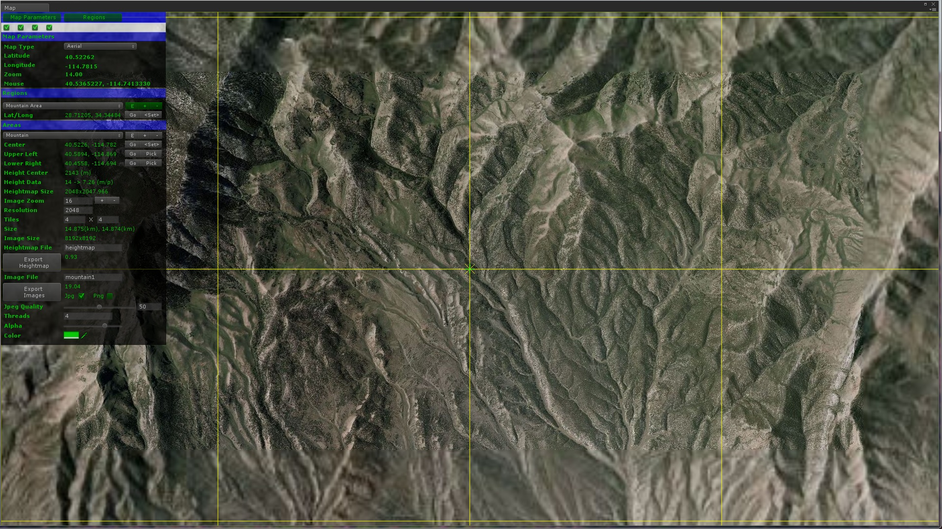 WorldComposer - Satellite height map
